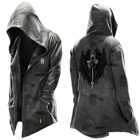 Fashion Training Uniform Warrior Print Long-sleeved Jacket