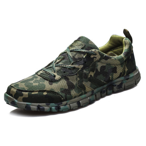 Mens outdoor sports breathable camouflage tactical shoes