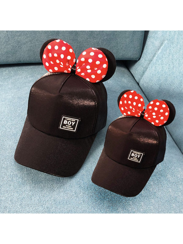Bow Baseball Cap For Mom and Me