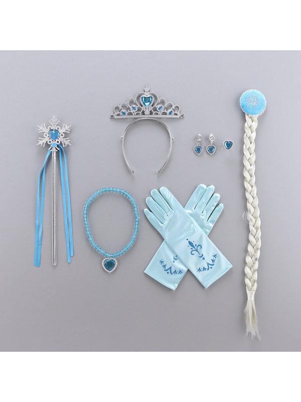 Princess Headdress Set Wig Crown Magic Wand Unicorn Headband