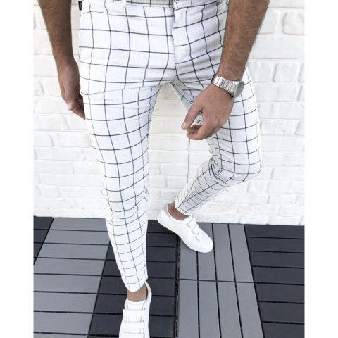 Mens Check Casual Pants