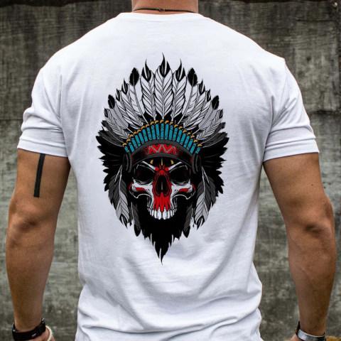 Chief skull print short sleeved T shirt