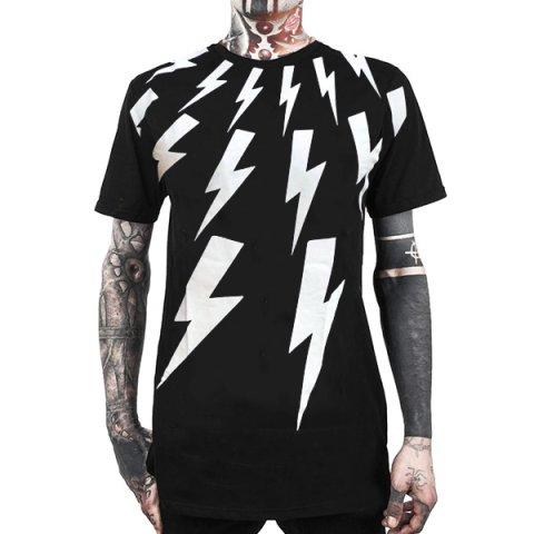 Men Punk Street Printed Short Sleeved T-shirts 0429
