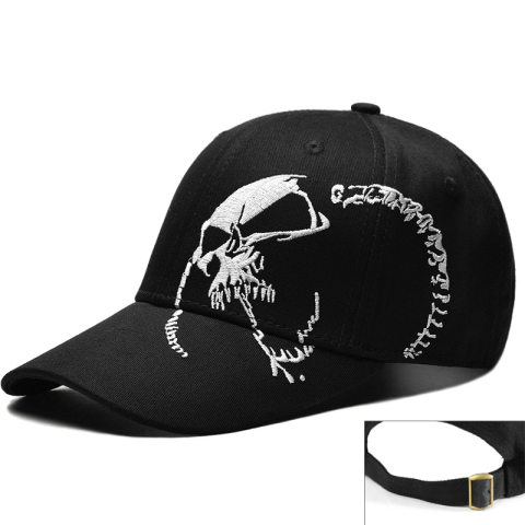 Skull embroidered cap