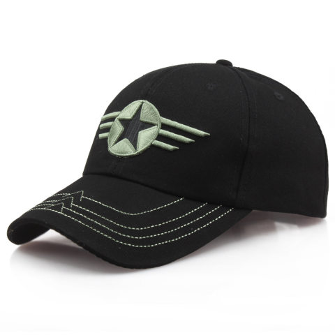 Pure Cotton Five-pointed Star Camouflage Hat Tactical Baseball Cap Camouflage Hunting Fishing Hat Outdoor Shade Cap
