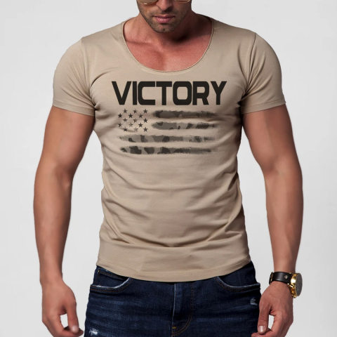 Amercian Flag Mens T shirt Cotton