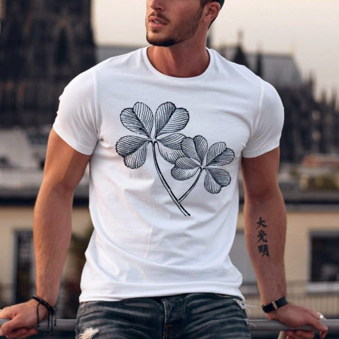 Four leaf clover Mens T shirt