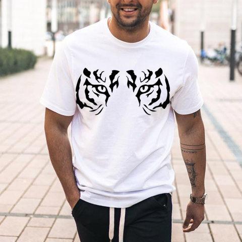 Tiger Face Mens T shirt