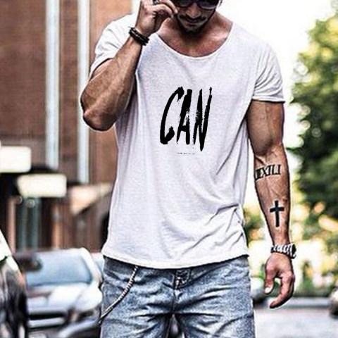 The fashion leisure letters printing T shirt man