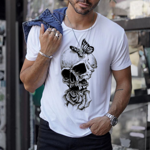 Skull Streetwear Mens T shirt