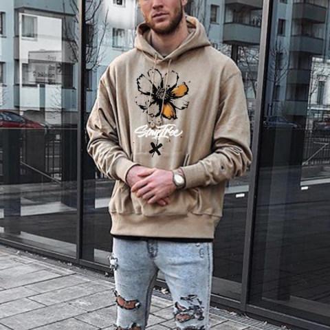 Fashion casual flower print clothing