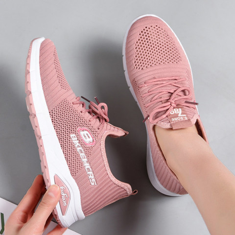 Casual soft comfortable flying woven sneakers