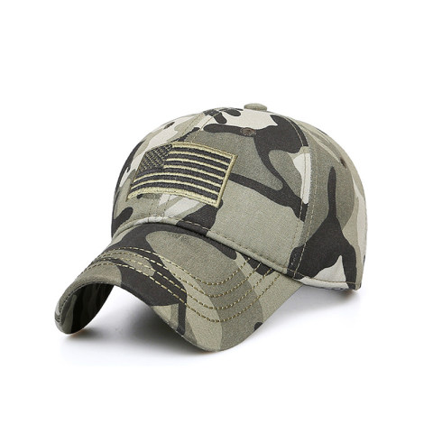 Mens Outdoor Flag Camouflage Cap