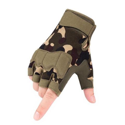 Men's camouflage half-finger tactical gloves