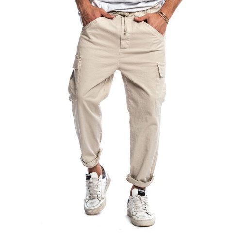 Tethered Woven Hip Hop Fashion Tapered Pants
