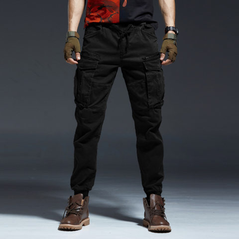Mens Outdoor Sports Multi-pocket Trousers