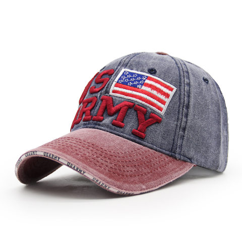 Men's retro washed denim sun hat