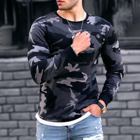 Mens Modern Camouflage Long Sleeve Shirt