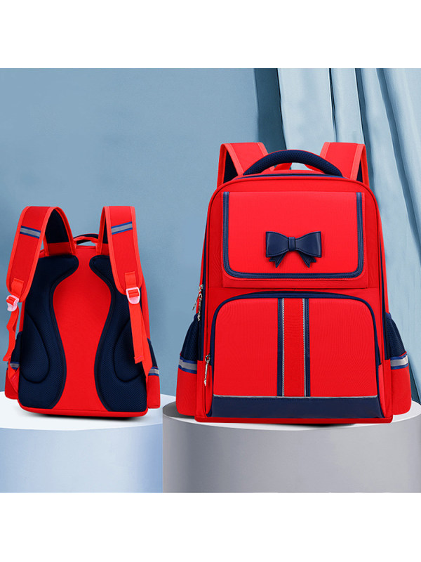 Girls Bow Contrast Schoolbag