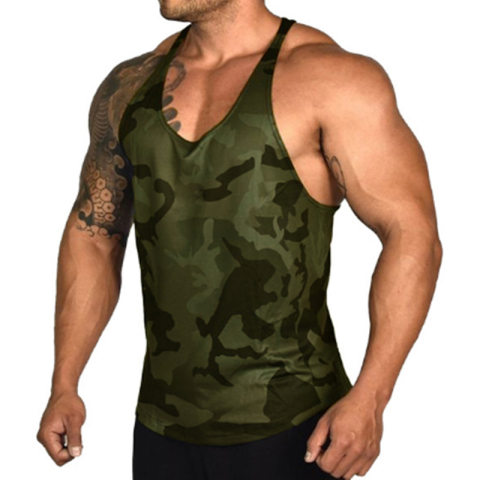 Mens Sports And Fitness Camouflage Print Vest