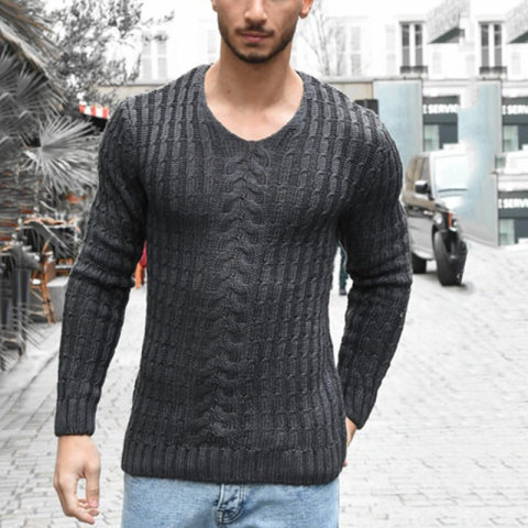 Casual knit slim sweater