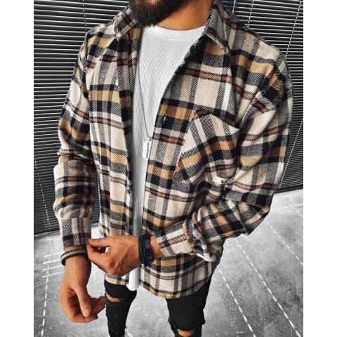 Street fashion plaid texture casual jacket