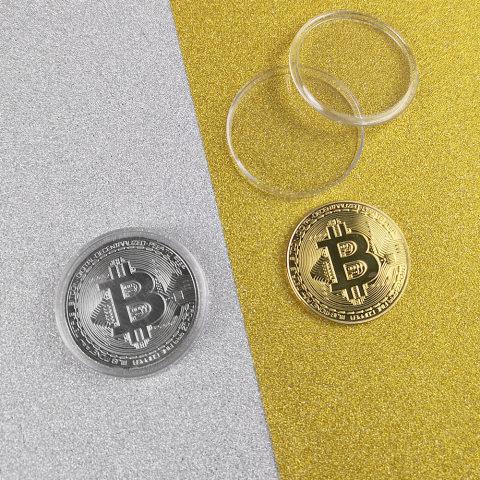 Bitcoin virtual bitcoin metal alloy commemorative coin alloy