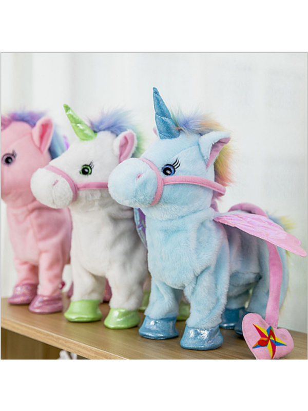 Electric Music Dance Cute Unicorn Leash Pegasus Doll