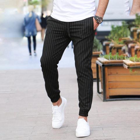 Fashion Vertical Stripes MenS Casual Pants