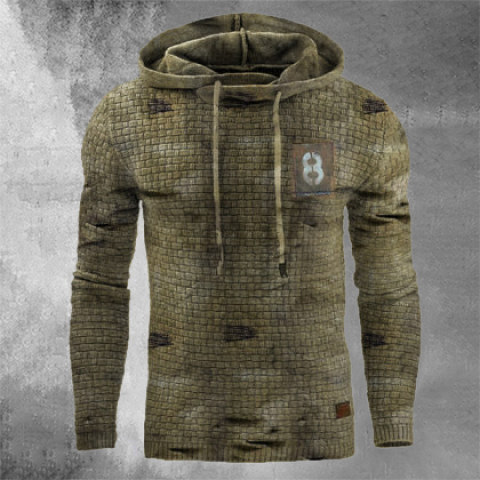 Retro Mens Outdoor Sports Fitness Hooded Sweater
