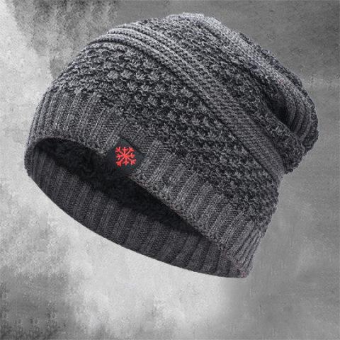 Men's thick woolen hat outdoor warm knitted cotton earmuffs hood ski hat