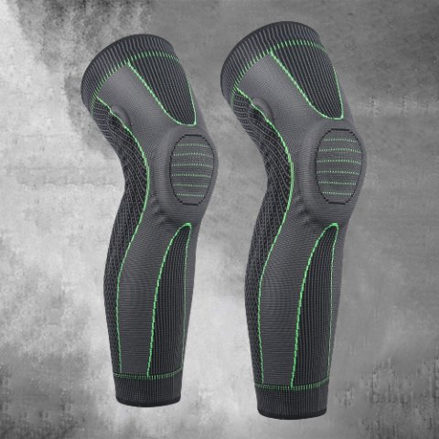 Sports Lengthened Silicone Spring Knitted Knee Pads