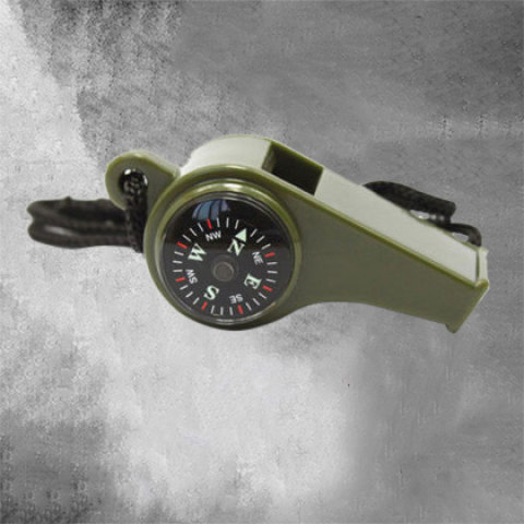 Outdoor Thermometer Compass Multi-function Boom Whistle