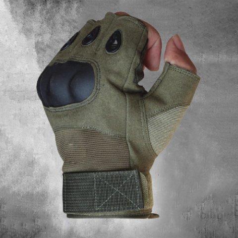 Half finger gloves mens tactical anti-cut outdoor sports