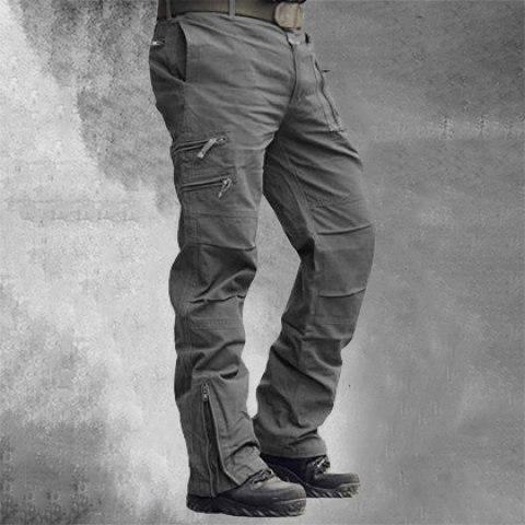 Mens Casual Large Pocket Pants