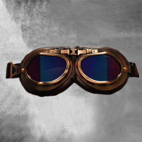 Bronze dustproof and windproof tactical riding glasses