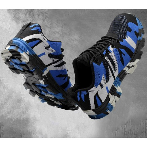 Camouflage Anti-smashing And Puncture-proof Steel Toe Shoes