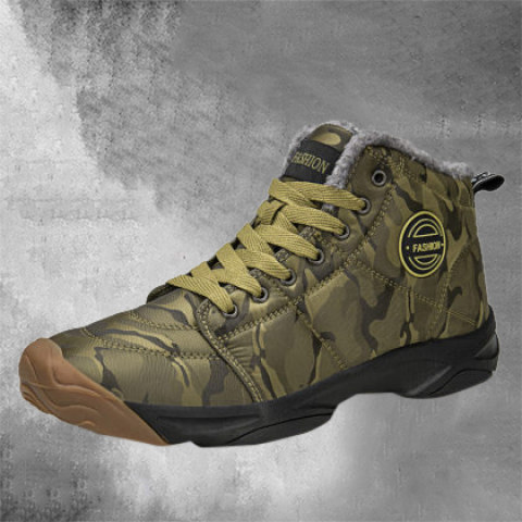 Outdoor hiking and skiing warm sports shoes