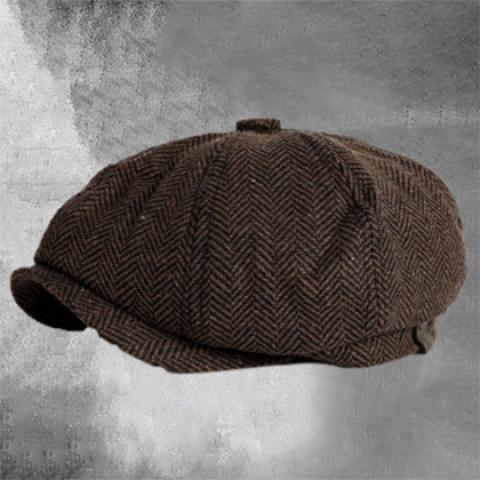 Retro autumn and winter casual British octagonal hat men beret men's trend