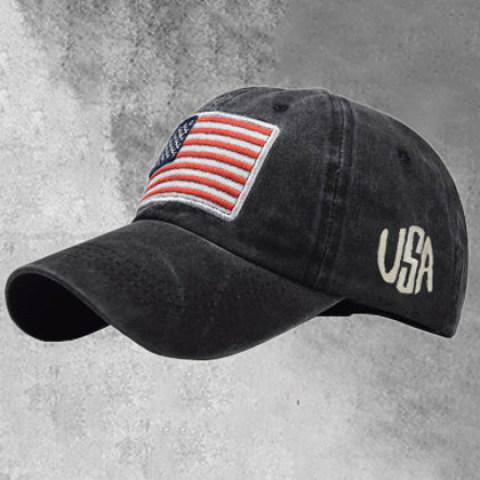 USA letter printed retro baseball hat