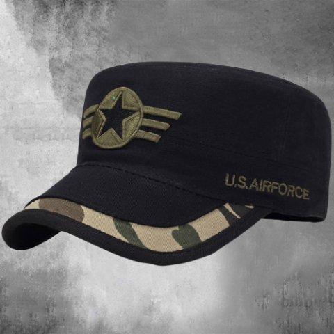 Men's outdoor casual camouflage flat cap