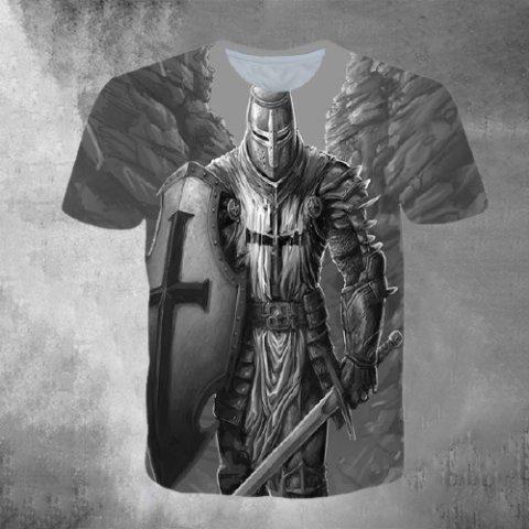 Mens Outdoor Sports Crusader Graphic Print T-shirt