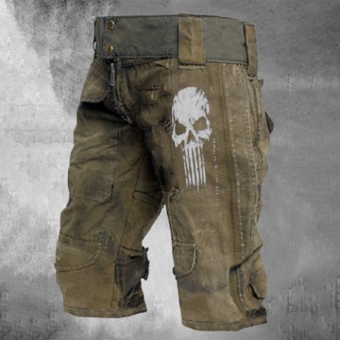 Mens outdoor wear-resistant military shorts