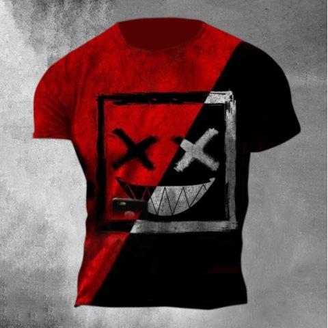 Designer Funny Geometric Print T-shirt