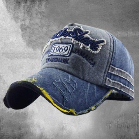 Old 1969 baseball cap washed full hat frayed visor hat men and women baseball cap