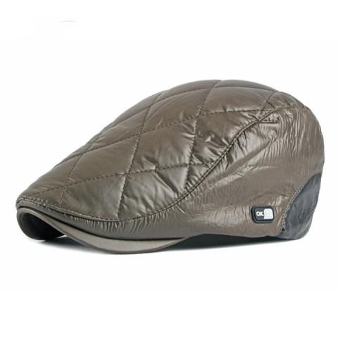 New style velvet warmth British retro literary mens hat