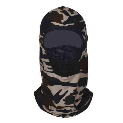 Outdoor sunscreen camouflage mask