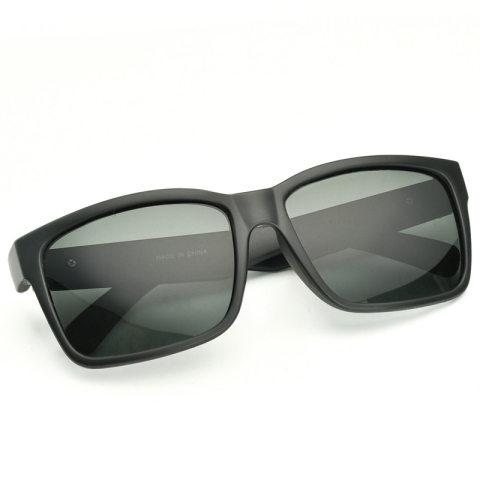 Square frame polarized sunglasses