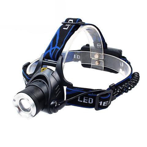 Rechargeable waterproof zoom strong light emergency lighting