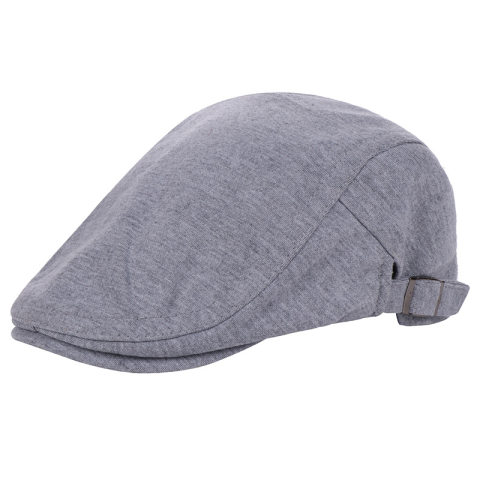 Foreign trade supply men and women spring and autumn cotton solid color beret hat Korean version of the duck tongue forward hat